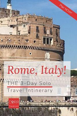 Rome Italy 3 Day solo travel itinerary