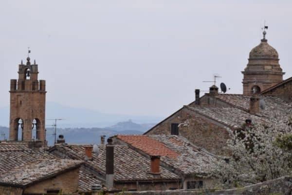 Rooftops of Montalcino Italy