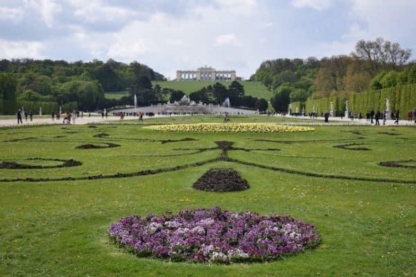 Schonbrunn Palace Gardens Vienna