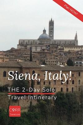 Siena Italy 2 Day Solo Travel Itinerary