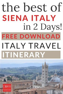 Siena Italy in 2 Days Travel Itinerary-Free Download