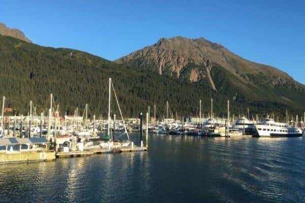 Small boat harbor Seward Alaska long weekend