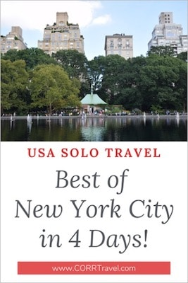 Solo Travel Best of New York City in 4 Days