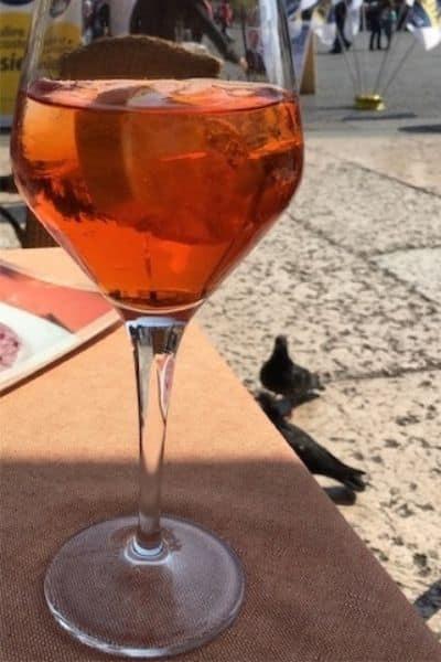Spritz drink in Venice Italy
