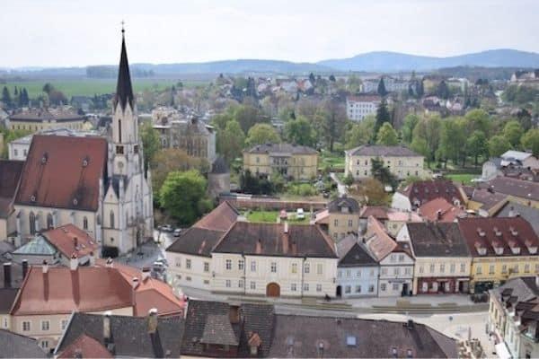Town of Melk Wachau Valley Austria