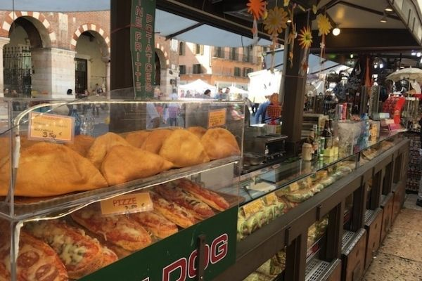 Verona market stand Italy