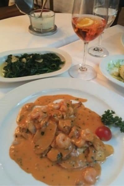 Vienna dinner with wine