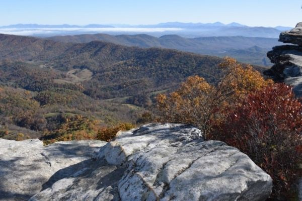 View from McAfees Knob Virginia hiking 3 day itinerary