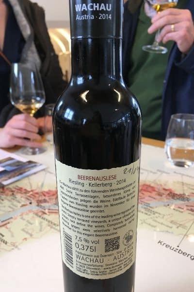 Wachau Valley wine bottle