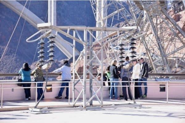 tourists touring Hoover Dam Arizona