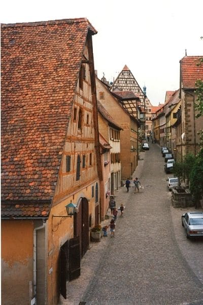 Rothenburg ob de Tauber city streets