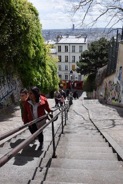 Montmartre stairs Paris