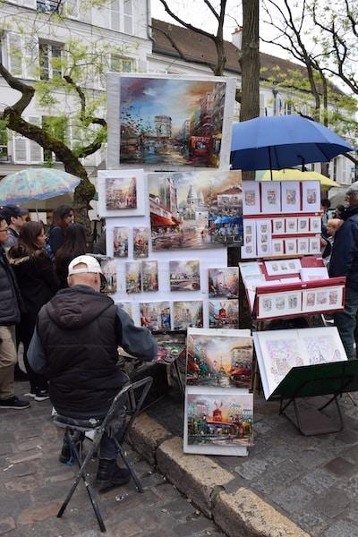 Montmartre artist Paris