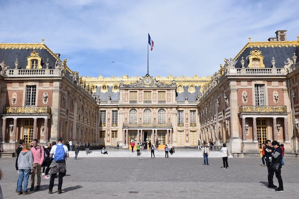 Front of Palace of Versailles France