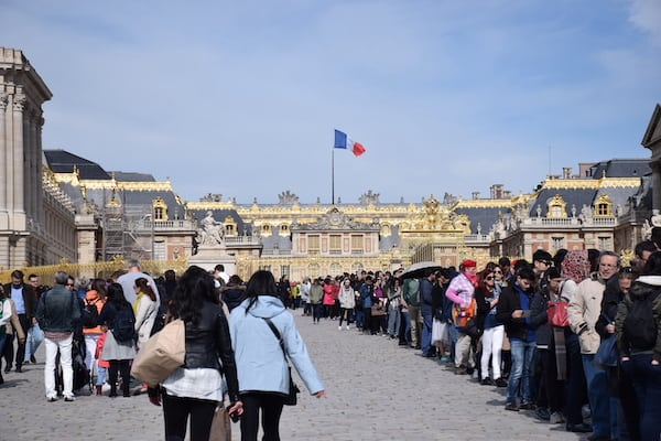 Tourist Line at Palace of Versailles France