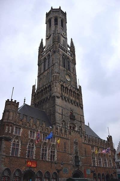 Bruges Belfry on one day in Bruges from Brussels