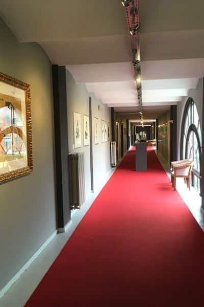 Hallway inside Picasso Museum Bruges