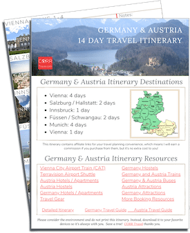 Germany and Austria 14 Day Itinerary printable