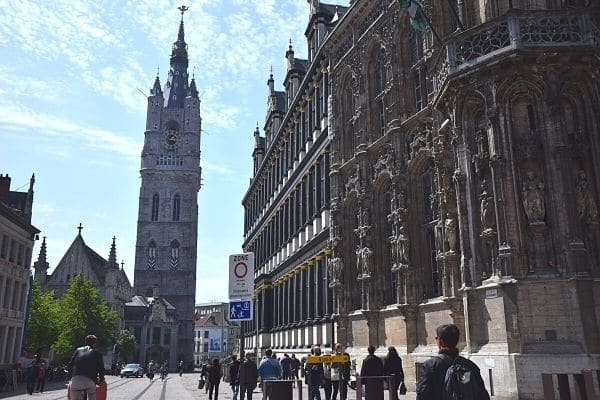 Ghent City Hall & Het Belfort van Gent Belgium