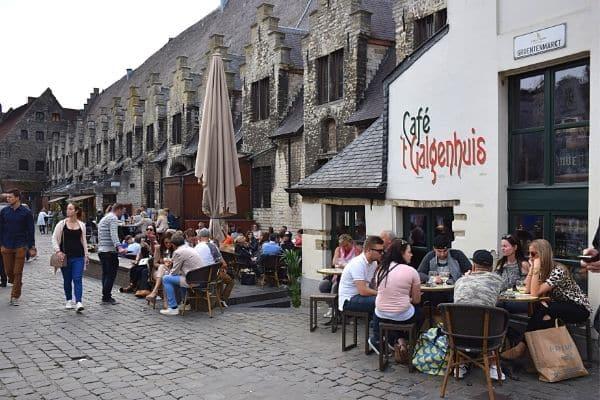 Great Butchers Hall Groentenmarkt Ghent Belgium