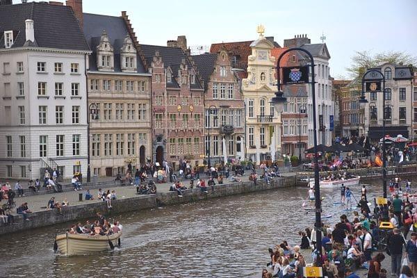 Korenlei bank Ghent Belgium