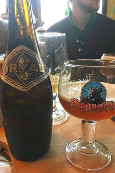 Orval Belgian beer in one day in Ghent Belgium