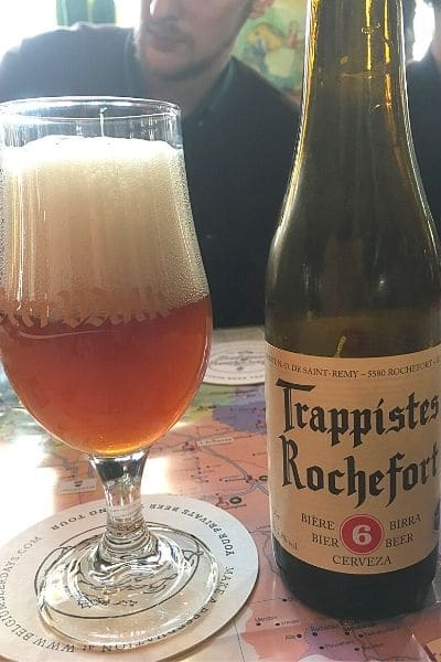 Trappistes Rochefort beer in one day in Ghent Belgium