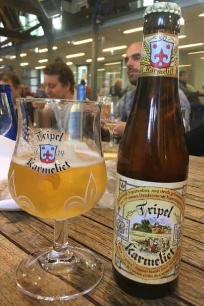 Tripel Karmeliet beer in one day in Ghent Belgium