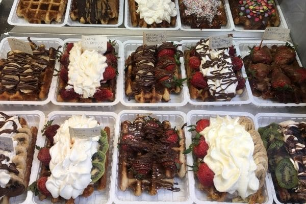 Belgian waffles Brussels Belgium