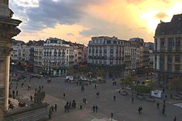 Brussels-City-Center-Belgium-at-sunset