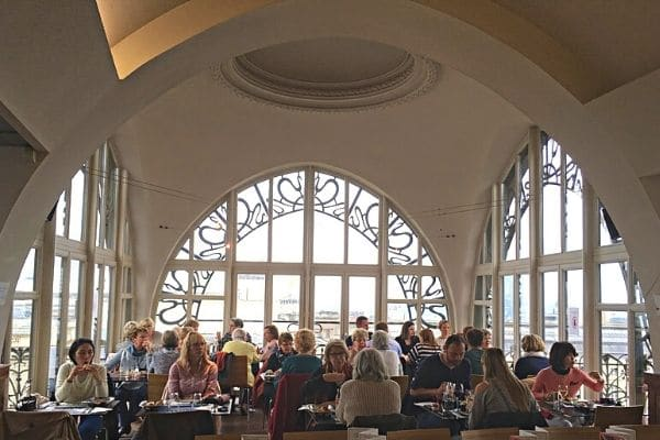 Dining upstairs Old England Building Brussels