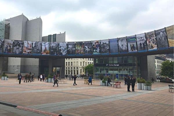 European Parliament Plaza Brussels