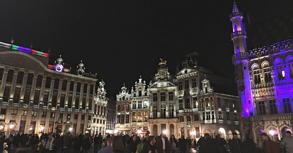 La Grand Place Brussels lit at night 3 days in Brussels