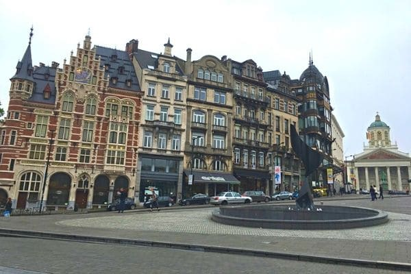 Old England Building and other buildings Brussels City Center Belgium