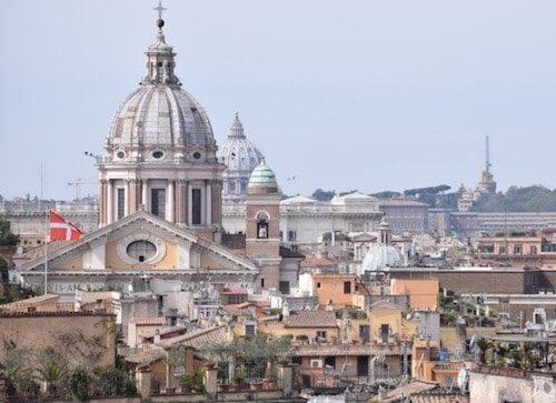 Rome cityscape Italy