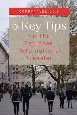 Tips for the Novice International Tourist Pinterest image