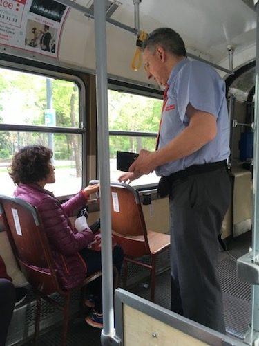 Ringstrasse Tram ticket taker
