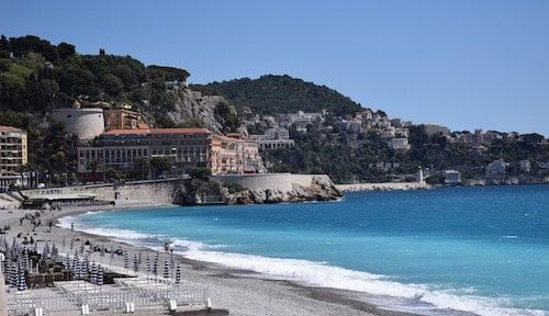 Nice France beach and sea view