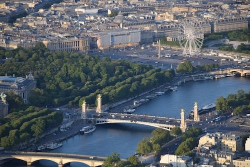 View of Paris from Eiffel Tower Paris France