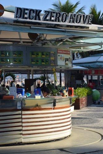 Food stand Copacabana Beach Rio de Janeiro, Brazil
