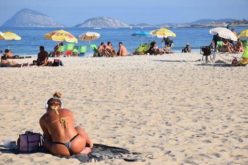 Girl on Copacabana Beach Rio de Janeiro, Brazil
