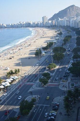 View of Copacabana Beach Rio de Janeiro, Brazil