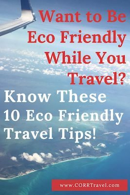 eco travel tips Pinterest image