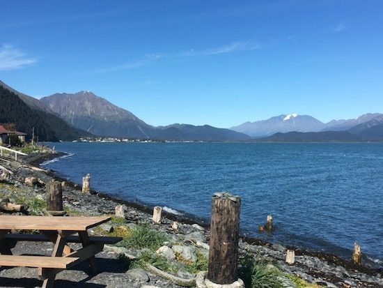 View of Seward Alaska across the water
