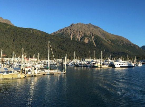 Boats in small boat harbor Seward Alaska