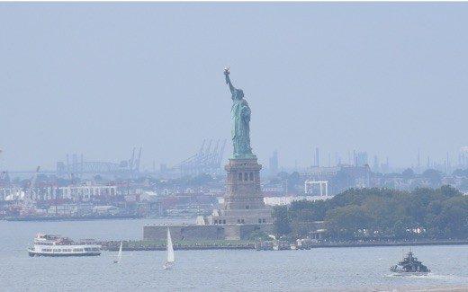 Statue of Liberty on New York Harbor