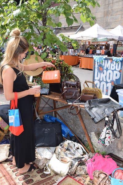 Woman shopping at Brooklyn Flea