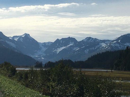 Seward Highway mountain scenary