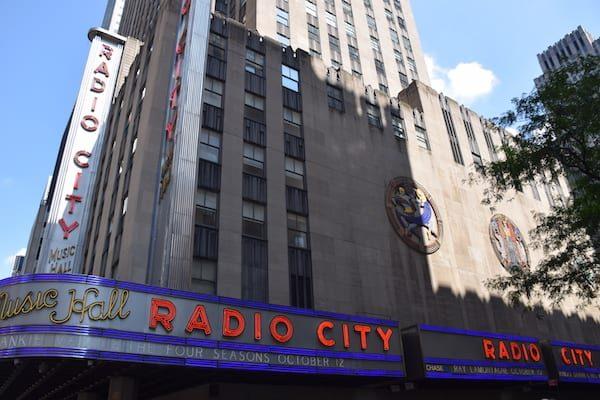 Radio City Music Hall sign and building