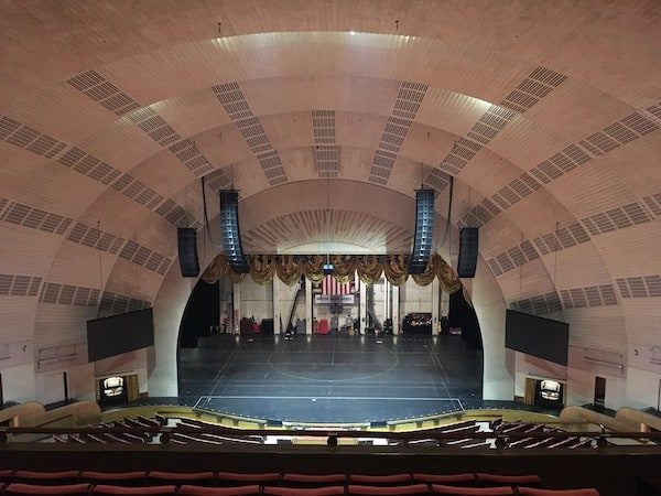 Inside Radio City Music Hall theater